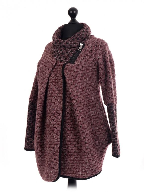 Italian Wool Mix Cocoon Coatigan Jacket Coat