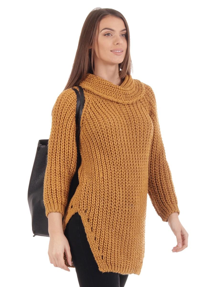bd9f2ea3ba Made in Italy Italian Cowl Neck Chunky Knit Jumper
