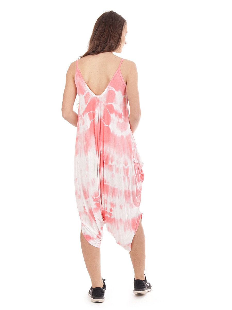 fe3b9d8cee9 Wholesale Made In Italy Tie Dye Strappy Lagenlook Harem Jumpsuit