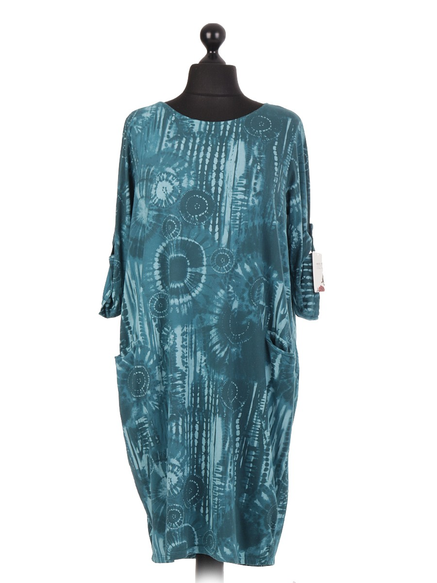 bb5d56961f Made In Italy Clothing Wholesale Tie   Dye Print Lagenlook Italian Dress