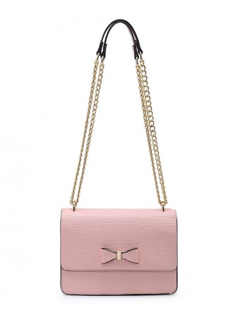 Cross Body Bag With Bow & Chain Detail