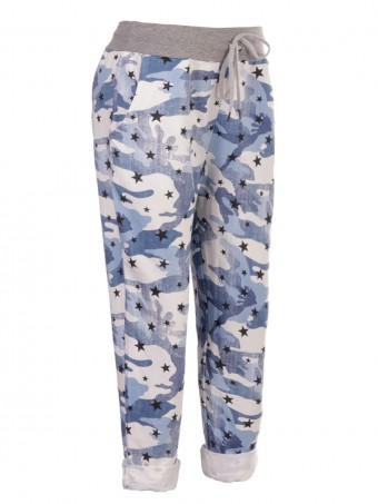 Italian Camouflage Print Trouser