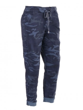 Italian Camouflage Print Magic Trousers