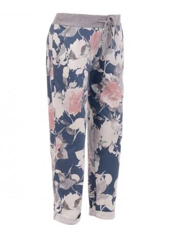 Italian Cotton Floral Print Trouser