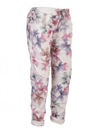 Italian Leaf Print Stretchable Trouser
