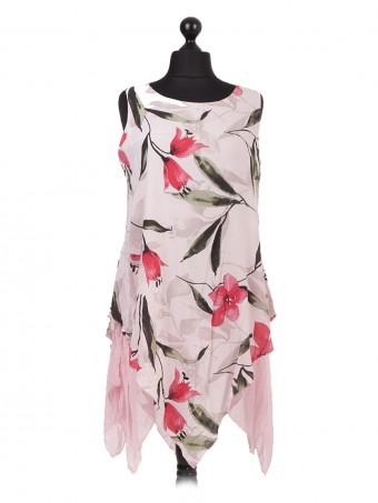 Italian Floral Print Quirky Dress