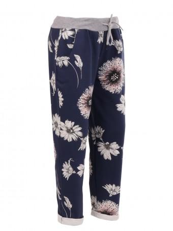 Italian Floral Print Trouser