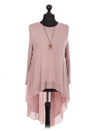 Italian High Low Chiffon Hem Dress