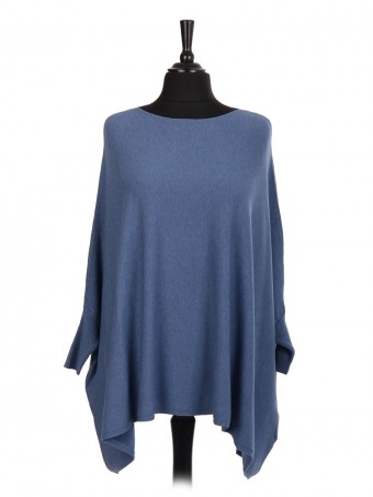 Italian Knitted Batwing Poncho