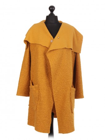 Italian Lana Wool Wrap Over Coat