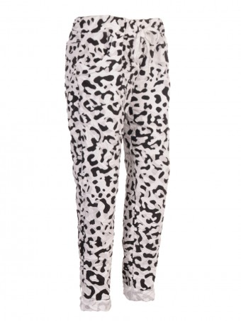 Italian Leopard Print Cotton Magic Pants