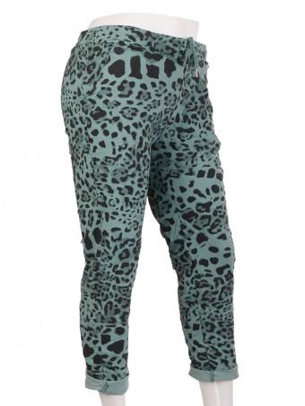 Italian Leopard Print Cotton Magic Pants Trouser