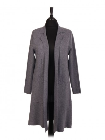 Italian Longline Knitted Jacket With Pockets