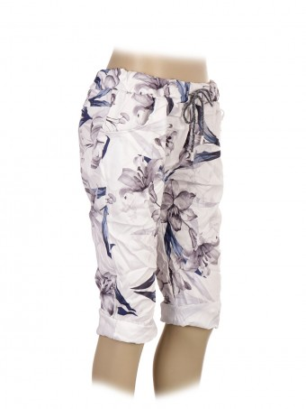 Italian Printed Shorts With Side Pockets