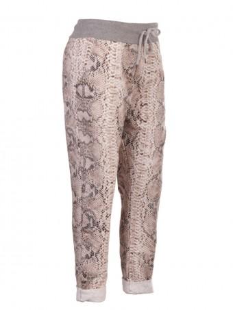 Italian Snake Skin Print Cotton Trouser