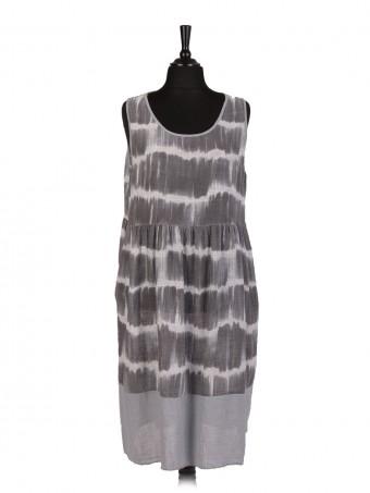 Italian Tie & Dye Lagenlook Pleated Dress