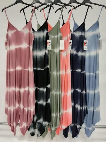 Italian Tie Dye Print Strappy Jumpsuit