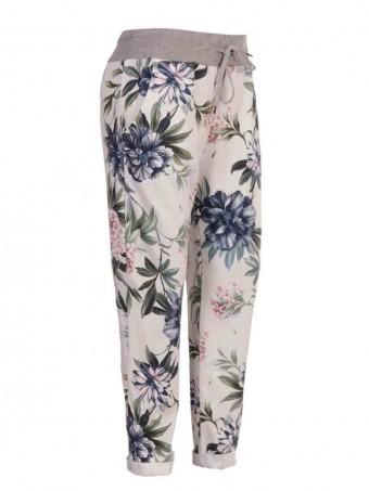 Italian Tropical Print Cotton Trousers