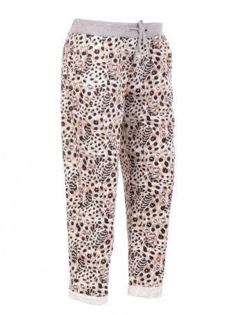 Large Italian Animal Print Trouser