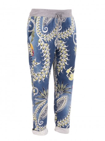 Large Italian Floral Printed Trouser