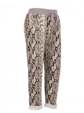 Italian Snake Print Trouser