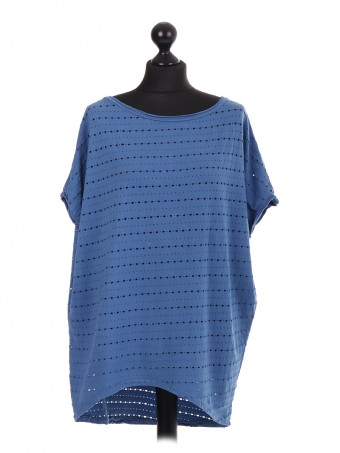 Mesh Hole Cotton Baggy Top