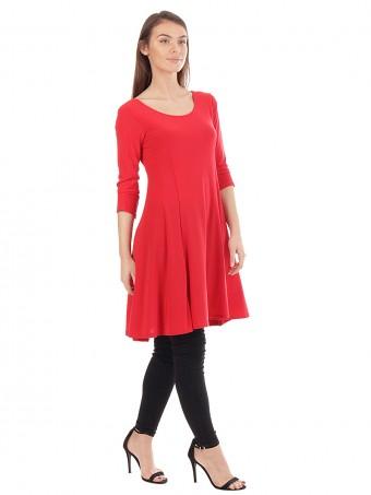 Panelled Low Back Swing Dress