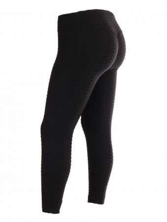 Plus Size Women High Waist Ruched Butt Jacquard Leggings