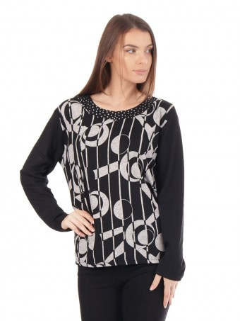 Printed Loose Jumper Top