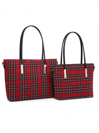 Tartan Tweed Hand Bag