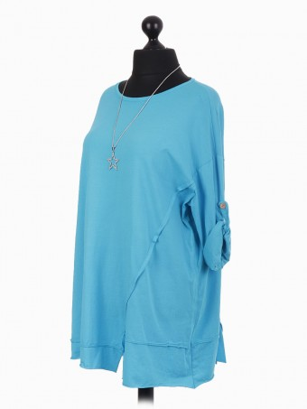Italian Cotton Top With Star Necklace