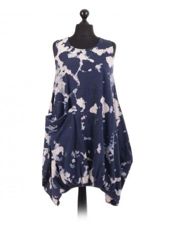 Italian CottonTie Dye Baggy Dress