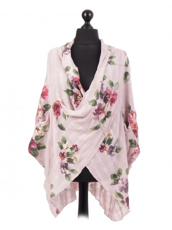 Italian Wrap Over Batwing Cotton Top
